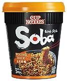 Nissin Cup Noodles Soba Cup – Peking Duck, 8er Pack, Wok Style Instant-Nudeln japanischer Art, mit Würzsauce, Ente & Gemüse, schnell im Becher zubereitet, asiatisches Essen (8 x 87 g)