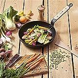 De Buyer Gemüse-Pfanne: Pfanne 24 cm B Buyer Gewürzmühle 14 cm und Pfannenwender 30 cm
