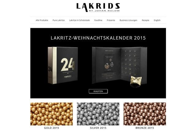 Lakrids - Webseite