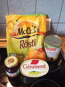 Kartoffelrösti Camembert - Zutaten