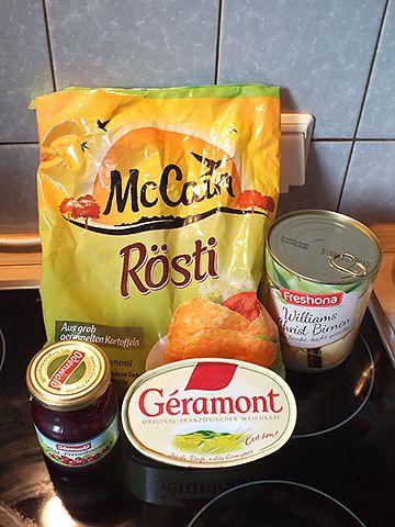 Kartoffelrösti Camembert – Zutaten