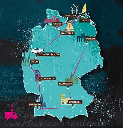 Karawane der Köche - Roadtrip Karte