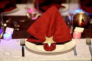 Weihnachtsdeko - Serviette und Stern