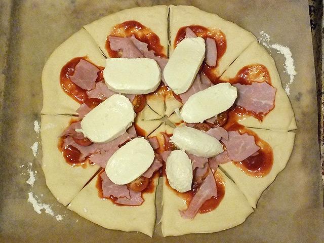 Pizzablumen & Pinwheels – Belag