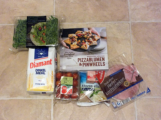Pizzablumen & Pinwheels - Besonderes Partyfood