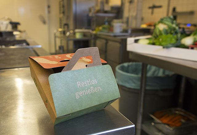 Beste-Reste-Box im Restaurant