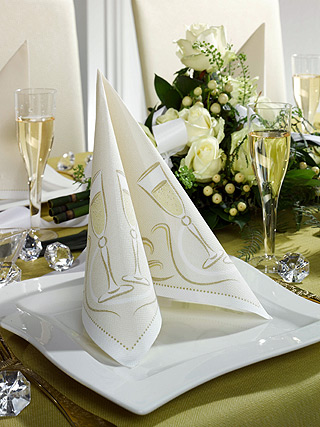 Papstar Einmalgeschirr - RoyalCollection - Festive Moments gold