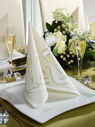 Papstar Einmalgeschirr - RoyalCollection - Festive Moments gold