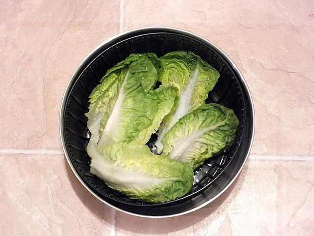 Gefüllte Wraps - Salats in der Schleuder