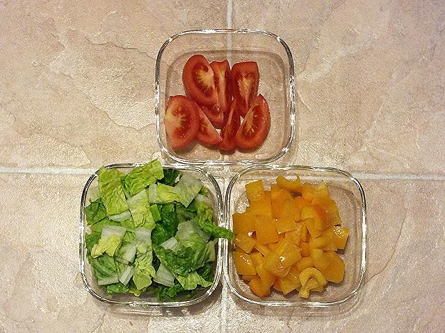 Wraps - geschnittenes Gemüse