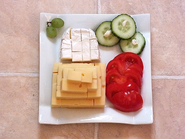 Schnelles Abendessen - Käseplatte
