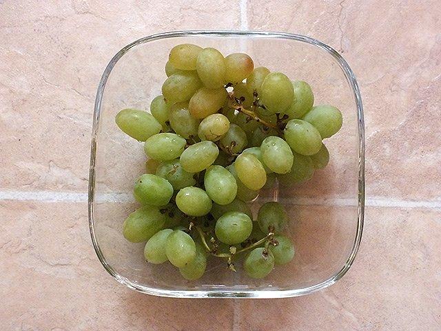 Schnelles Abendessen - Weintrauben
