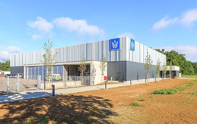 Wäschekrone - Neue Fertigungshalle