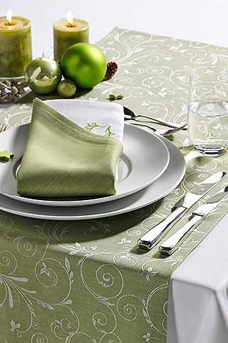 Wäschekrone - Weihnachtliche Tischwäsche