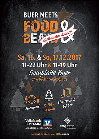 Buer meets Food & Beats Weihnachts-Edition 2017 - Plakat