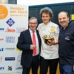 INTERNORGA Next Chef Award Sieger Marianus von Hörsten mit Johann Lafer und Jan Hofer