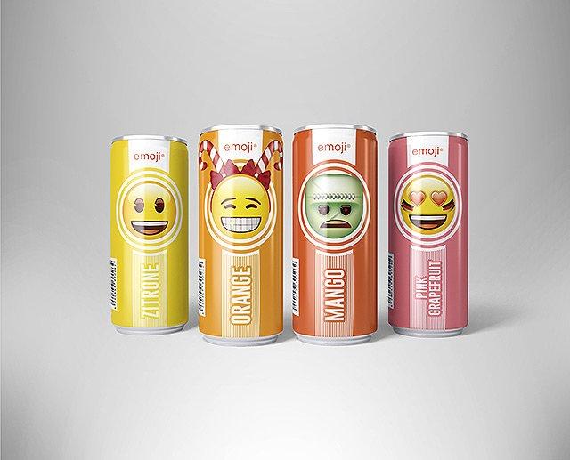 Vier Geschmäcker - vier Themen! Ab sofort erobern die emoji® Icons das Getränkeregal.