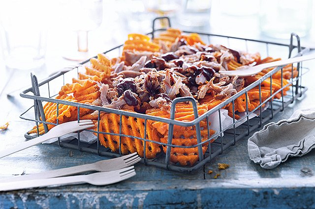 Lamb Weston - Fingerfood zum Oktoberfest - Pulled Pork Sweet Potato CrissCuts