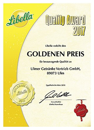 Libella Quality Gold Award 2017