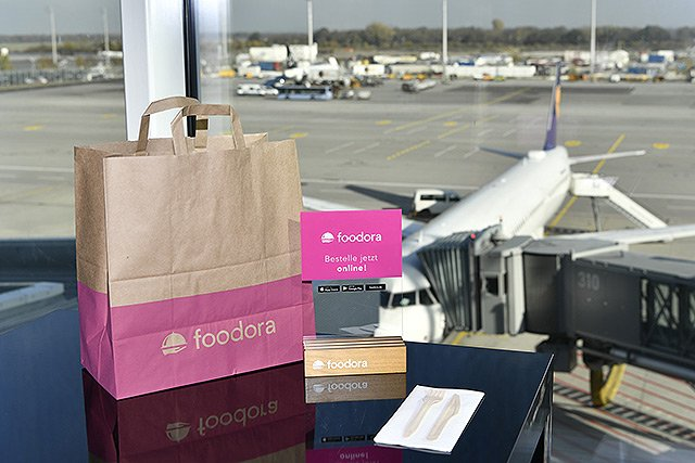 Order and Pick-Up Service von foodora am Flughafen