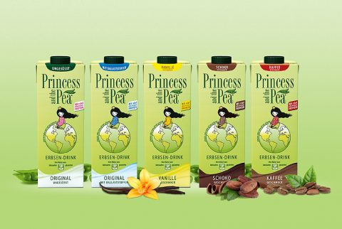Erbsendrink statt Kuhmilch - PRINCESS AND THE PEA
