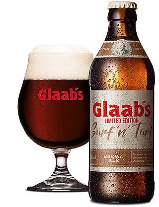 Glaabsbräu - SurfnTurf - Flasche und Glas