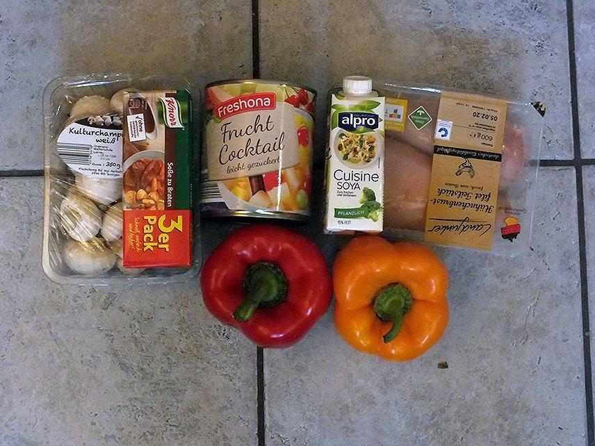 01 - Currygeschnetzeltes mit Früchten - Die Zutaten