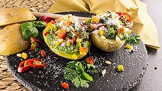 Grillsaison - Folienkartoffeln mit Paprikapesto