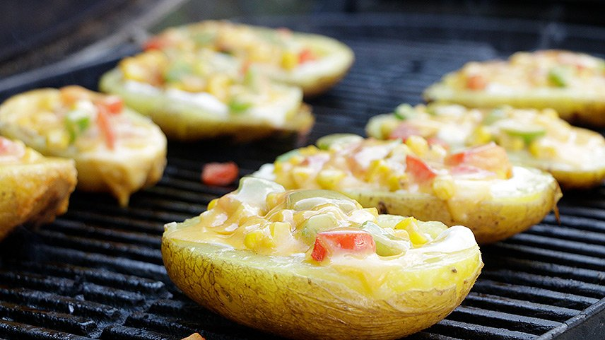 Grillsaison - Kartoffelschiffchen - ein Genuss für die Augen und den Gaumen