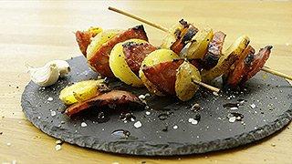 Grillsaison - Kartoffelspieße mit Chorizo