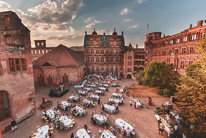Heidelberger Schloss Gastronomie - Open Air Restaurant