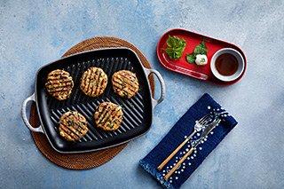 Le Creuset - Grillplatte rechteckig - Burger Patties