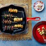 Le Creuset - Grillplatten - Pilzspiesse mit wuerziger Miso-Butter