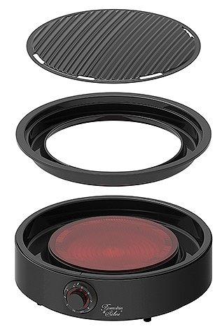 Rosenstein & Soehne - 2in1-Glaskeramik-Kochplatte Einzelteile