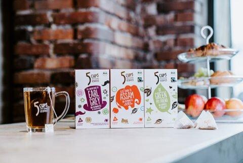 5 Cups and some leaves - Moderner Tee für urbanen Lifestyle - TEEKANNE