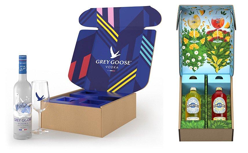 Bacardi - Amazon Gift Packs - Grey Goose - Martini