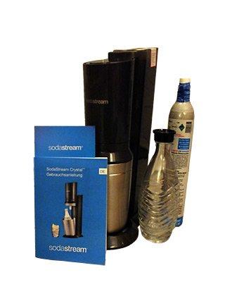 sodastream Crystal Titan mit Glaskaraffe und Gaskartusche