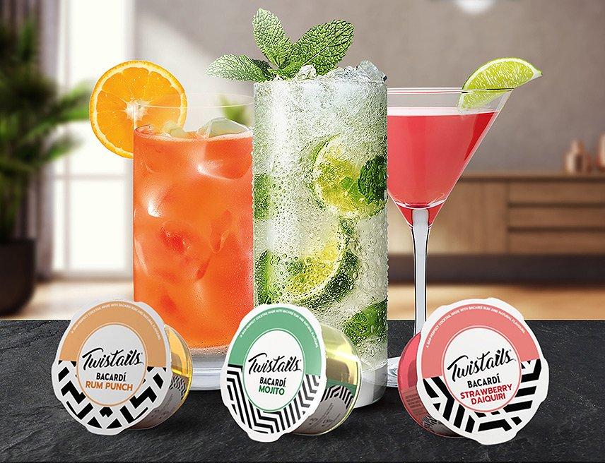 Bacardi - Twistails® - perfekte Cocktails zu Hause mixen