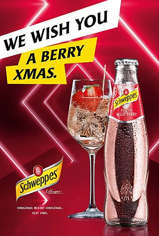 Schweppes - We wish you a berry xmas