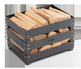 höfats Crate mit Holz