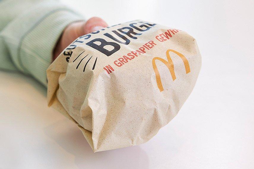 McDonald's - Verpackung aus Graspapier