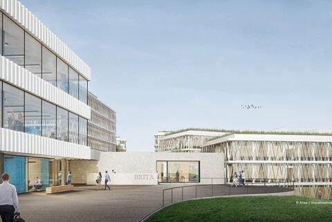 BRITA-Campus - Aufnahme der Bauarbeiten zur Erweiterung